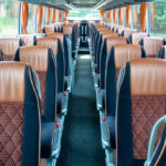 Fuhrpark - Innenausstattung Ausblick durch den Bus zum Heck