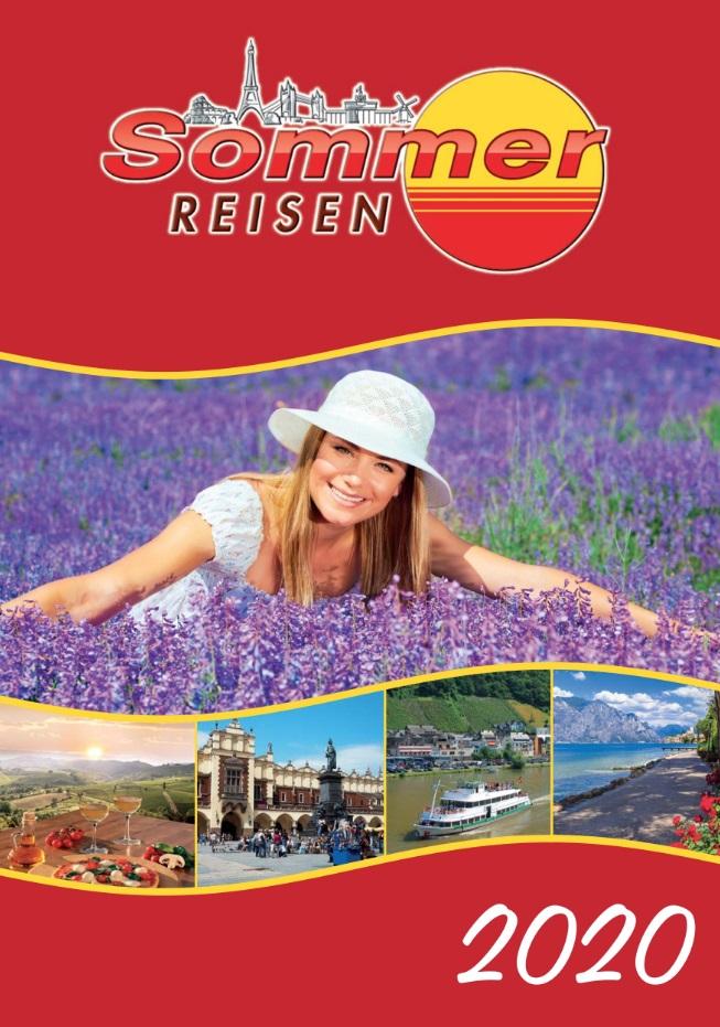 Historie - Titelseite Reisekatalog Sommer Reisen 2020